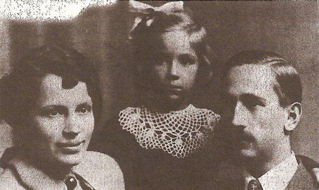 Władysław Łękowski z żoną i córką